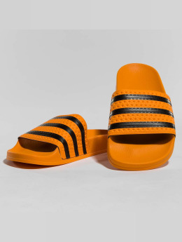 adidas originals | Stripes orange Homme,Femme Claquettes & Sandales