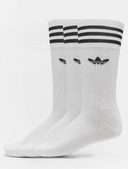 adidas originals Ponožky Solid Crew bílý