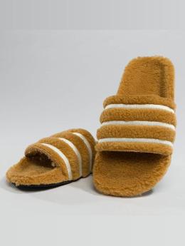 adidas originals Slipper/Sandaal Adilette bruin
