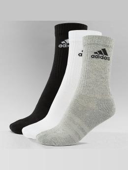 adidas 3-Stripes Per Cr HC 3-Pairs Socks Black/Medium Grey Heather/White