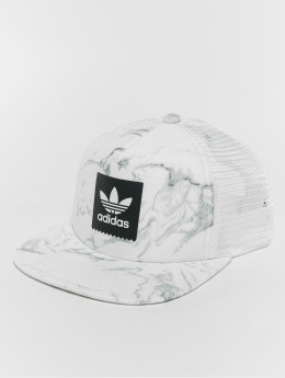 adidas originals Trucker Cap Marble bianco