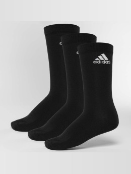 adidas Performance Chaussettes Performance 3-Stripes No Show noir