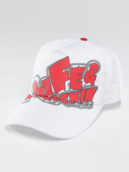 Alife & Kickin Trucker Cap Logo weiß