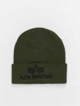 Alpha Industries Beanie 3D grön