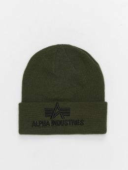 Alpha Industries Beanie 3D groen