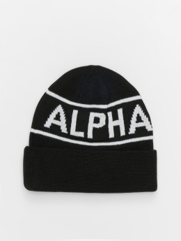 Alpha Industries Beanie Block nero