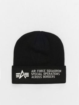 Alpha Industries Beanie Air Force schwarz