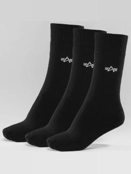 Alpha Industries Chaussettes 3-Pack noir