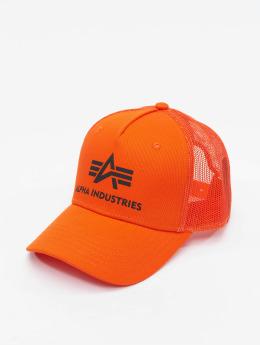 Alpha Industries Gorra Trucker Basic naranja