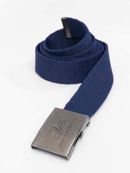 Alpha Industries riem Heavy Duty blauw