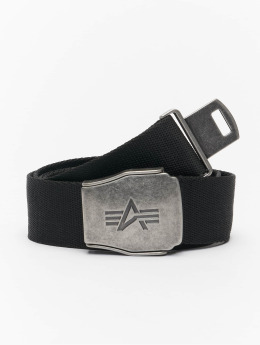 Alpha Industries riem Buckle Belt zwart