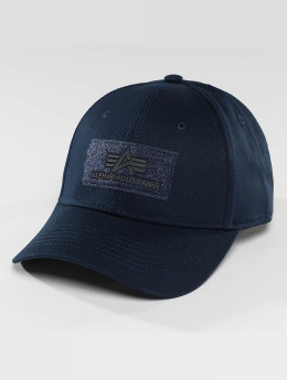 Alpha Industries Snapback Cap Velcro blue
