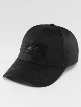 Alpha Industries Snapback Cap Velcro  grau