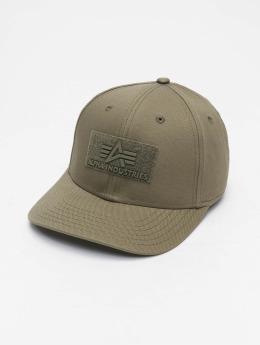 Alpha Industries snapback cap Velcro groen
