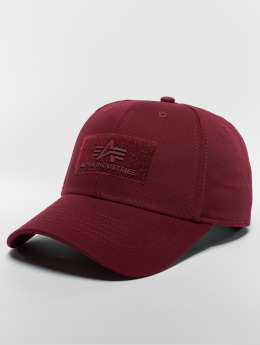 Alpha Industries Snapback Cap Velcro red