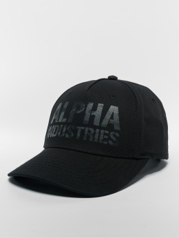 Alpha Industries Snapback Cap Camo Print schwarz