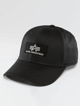 Alpha Industries Snapback Caps Velcro  musta