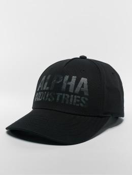 Alpha Industries Snapback Caps Camo Print musta