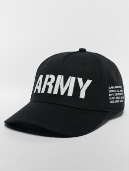 Alpha Industries Snapback Caps Army svart