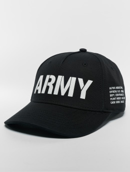Alpha Industries Snapbackkeps Army svart