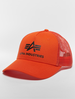 Alpha Industries Trucker Cap Basic arancio