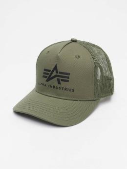 Alpha Industries trucker cap Basic groen