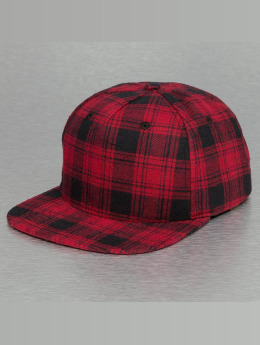 Bangastic Snapback Cap Checked rosso