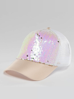 Bangastic Glam Trucker Cap Colored White