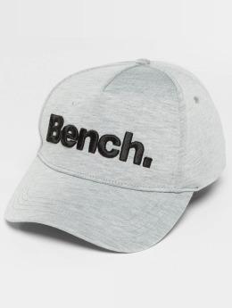 Bench Snapback Cap Logo grau