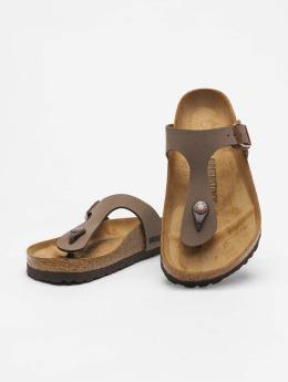 Birkenstock Badesko/sandaler Gizeh BF Nubuck brun