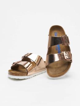 Birkenstock Badesko/sandaler Arizona NL SFB Metallic  brun