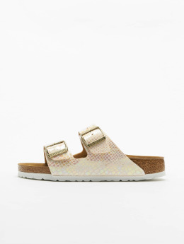 Birkenstock Claquettes & Sandales Arizona BF Shiny Snake beige