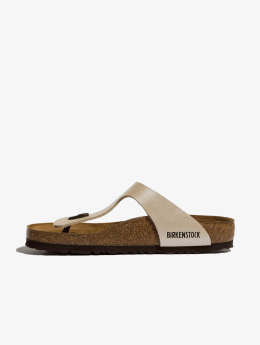 Birkenstock Claquettes & Sandales Gizeh BF Graceful blanc
