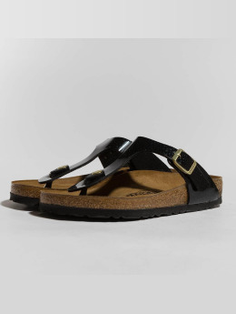 Birkenstock Claquettes & Sandales Gizeh BF Magic Snake noir