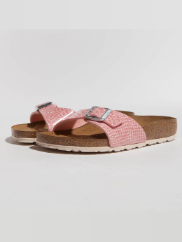 Birkenstock Claquettes & Sandales Madrid BF Magic Snake rose