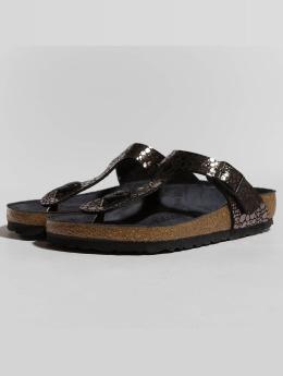 Birkenstock Sandals Gizeh BF Metallic Stones black