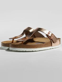 Birkenstock / Slipper/Sandaal Gizeh NL SFB in bruin