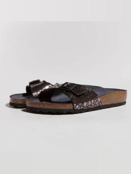 Birkenstock Slipper/Sandaal Madrid BF Metallic Stones zwart