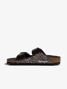 Birkenstock Slipper/Sandaal Arizona BF Metallic Stones zwart
