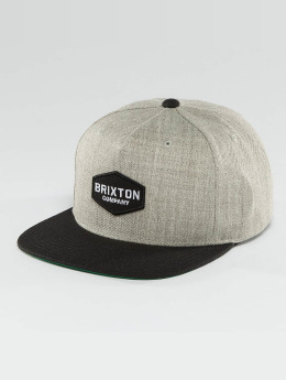 Brixton Snapback Cap Obtuse grau