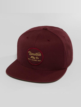 Brixton Snapback Caps Wheeler punainen