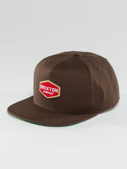Brixton Snapback Caps Obtuse ruskea