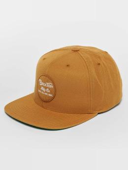 Brixton Snapback Caps Wheeler ruskea