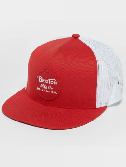 Brixton Wheeler Mesh Trucker Cap Red/White