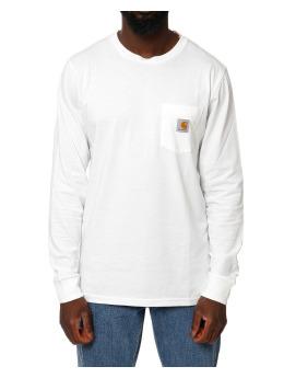 Carhartt WIP Longsleeve LS Pocket weiß