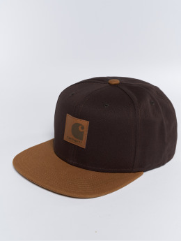 Carhartt WIP Snapback Caps Logo Bi-Colored brazowy