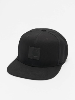 Carhartt WIP Snapback Caps Logo Canvas musta