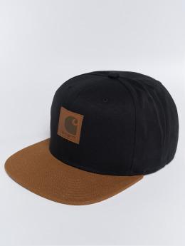 Carhartt WIP Snapback Caps Logo Bi-Colored musta