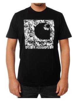 Carhartt WIP T-Shirt SS C Collage schwarz