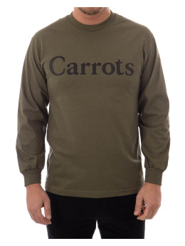 Carrots Longsleeve Wordmark grün